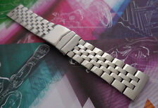 24 mm Parallel Stainless Steel 5-row Solid Link Band Fit Breitling Watch w Tool
