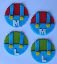 12 edible MARIO LUIGI GAME THEME CUPCAKE cake topper DECORATION icing HERO
