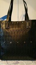 Vershe* Stunning Milleni handbag, tote, great size, Black laser cut front, NWT