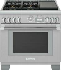 "Thermador Pro Grand Professional 36"" Ss Freestanding Dual-Fuel Range Prd364Wigu"