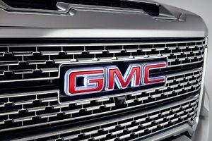 2020-2021 GMC Sierra Front Grille Illuminated Emblem 84741557 Red  OEM GM New