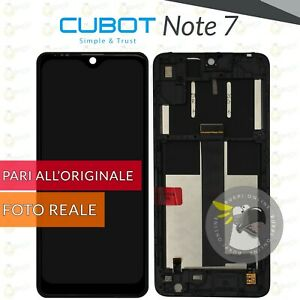 DISPLAY CUBOT NOTE 7 VETRO LCD + FRAME TOUCH SCREEN SCHERMO