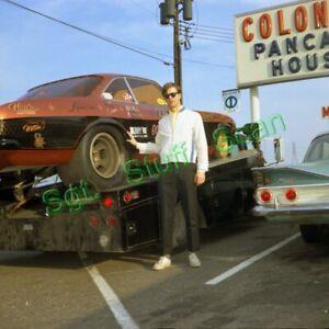 Vintage original drag racing photo negative Doug's Headers Corvair Funny Car