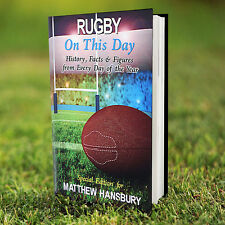 Rugby On This Day Book Personalised Birthday Dad Son Grandad Gift FREE DELIVERY