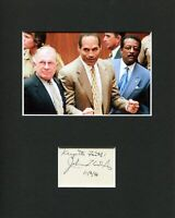 Johnnie Cochran Lawyer Rare Signed Autograph Photo Display With O. J. Simpson