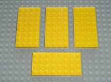 4 x LEGO Yellow plate 4 x 8 ref 3035 / Set 1525 8862 6745 4555 4549 6264 6987...