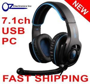 SADES SA923 HAMMER 7.1 channel PC Gaming Headset Headphones Noise Cancel Mic USB