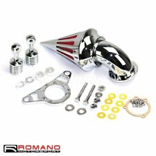Chrome Spike Intake Air Cleaner Filter For Harley Softail FXST Road King FLHR