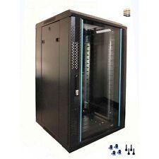12u Server Rack/cabinet 600 (W) x 800 (D) x 634 (H) Glass Front Door rackcabinet