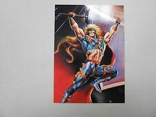 1995 DC Versus Marvel Impact embossed subset chase card #1 of Thor! NM/MN! LOOK!