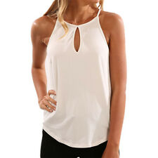 Women Sleeveless Summer Vest Top T Shirt Blouse Pure Color Casual Tank