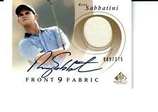 2002 SP Game Used Front 9 Fabric Autograph #RS Rory Sabbatini F9S-RS # 009 / 375