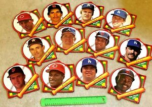 """Set of 12 Tara Toy Corp 7"""" Plaques Collection MLB Baseball Excellent condition!"""