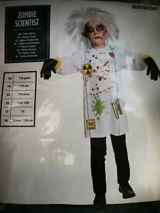 ZOMBIE SCIENTIST Halloween Costume Fancy Dress Child Outfit - Age 7-8
