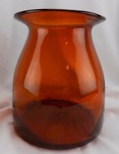 Art Glass Large Persimmon Orange Studio Glass Water Carafe-Vase-Container