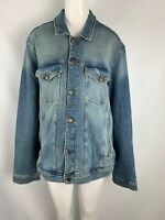 NWT Men's Tommy Hilfiger Blue Classic Trucker Denim Jean Jacket Button Coat XXL