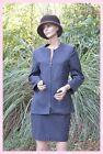 Ensemble veste et jupe gris noir CAROLL taille 36 ref 0817112