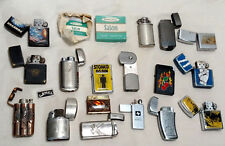 Lot of 17 Miscellaneous Used Cigarette Lighters 1 empty case and 1 camel zippo