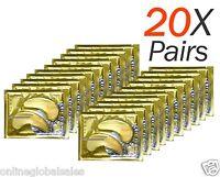 20 X Pairs Anti Aging Dark Circle Collagen 24k Gold Eye Patches Pad Mask Bag Gel