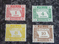 MALAYAN STATES TRENGGANU POSTAGE STAMPS SGD1-D4 LIGHTLY MOUNTED MINT