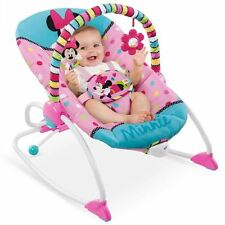 DISNEY MINNIE MOUSE BABY TODDLER ACTIVITY BOUNCER CHAIR VIBRATE SOUNDS GIFT