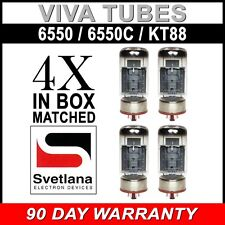 Brand New Current Matched Quad Svetlana 6550 / 6550C (KT88) Reissue Vacuum Tubes