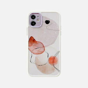 Cute Watercolor Floral Silicone Case Cover For iPhone 12 11 Pro Max XS XR X 8 7
