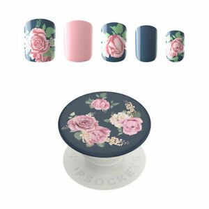 PopSockets: 30 Gel Nails and Matching PopGrip with Swappable Top for Phones