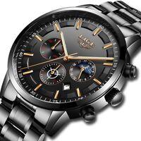 Fashion Sport LIGE Men's Analog Quartz Wrist Watches Military Date Watch Gift