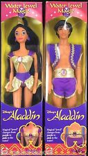 DISNEY'S ALADDIN WATER JEWEL MAGIC ALADDIN & JASMINE DOLLS NIB
