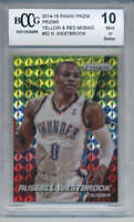 2014-15 Panini Prizm Yellow Red Mosaic #52 Russell Westbrook BCCG 10 MINT