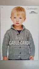 Unique Knitting Pattern #152 Boys Cable Cardi to Knit Size 2-12 Years