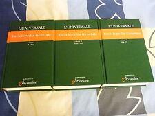 Enciclopedia Generale Vol.1,2,3 l'universale le garzantine
