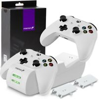 Controller Charge Dock Station Battery Pack + Wall Charger Xbox One S X [WHITE]