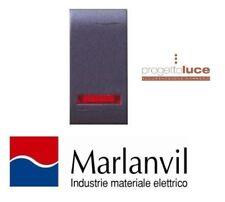PULSANTE LUMINOSO 1 MODULO SERIE ONDA MARLANVIL 7706.1 COMPATIBILE BTICINO