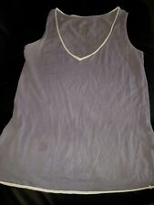 MOTHERCARE UK WOMENS SIZE 12 MATERNITY SLEEVELESS TSHIRT TOP CASUAL LILAC