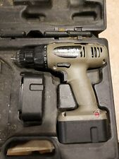 """PORTER CABLE 824 14.4 V. 3/8"""" DRILL with case and 2 bad batteries no charger"""