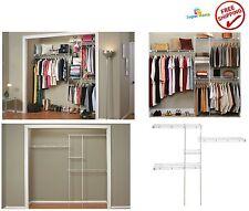 Closet Organizer Kit Shelving System Clothes Rack Wire Storage Shelf Hanger Home