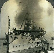 Stereoview Photo World War One WW1 British Battle Cruiser Indomitable Keystone