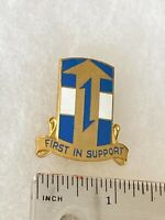 Authentic US Army 1st Support Brigade DI DUI Unit Crest Insignia 22M