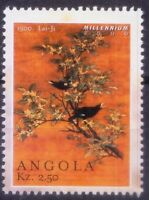 1500 Lai Jie, Chinese Birds, Painting, Angola 2000 MNH Millennium (R7n)