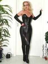 Korsagenlederkleid Leder Kleid Schwarz Schulterfrei Maßanfertigung