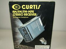 Portable AM/FM/FM MPX STEREO RECEIVER W/HEADPHONES CURTIS RS-12