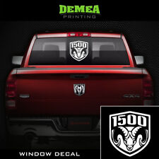 """DODGE RAM 1500 - Window Truck Decal/Sticker - 8"""" White or Choose Color"""