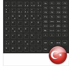 TASTATURAUFKLEBER KEYSTICK TÜRKISCH TURK KEYSTICK BLACK NERO SCHWARZ