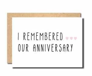 anniversary card Wedding Anniversary Card funny card for gilrfriend boyfriend A8