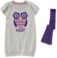 Gymboree Everyday Favorites Pink Hooray For Snow Days Owl Shirt Size 4 5 6 7 NEW