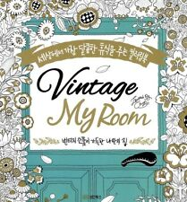 New Vintage My Room Coloring Book Gift Relax Art Hobby Heal 104 Pages Art Book