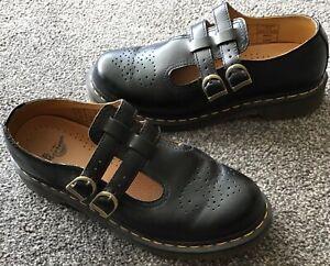 Dr Martens, Airwair, Women's Flat Black Shoes, U.K. Size 9, Excellent Condition