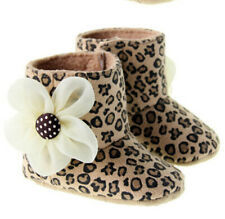 Infant Toddler Baby Girls Moccasins Winter Boots Crib Shoes Suede Leopard ALS098